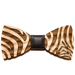 BOW TIE ZEBRA - WOOD SERIES