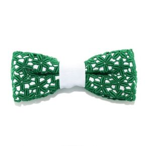 BOW TIE GREEN LACE - CIRCLE SERIES