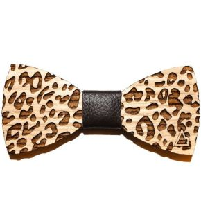 BOW TIE LEOPARD - WOOD SERIES
