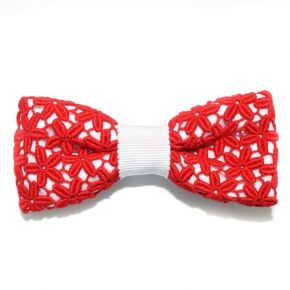 BOW TIE RED LACE - CIRCLE SERIES