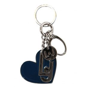 Weißer Liu Jo lj heart key ring blau