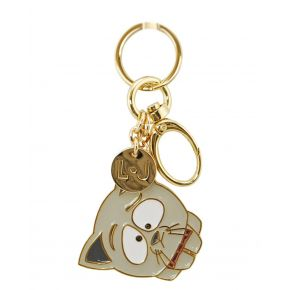 Weißer Liu Jo weird cat key ring hellgrau