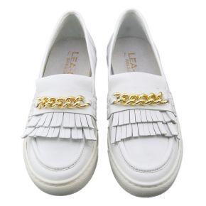Mokassin Sneakers Lea Gu-leder weiß