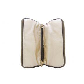 Sac d'Embrayage sac avec bandoulière, Patrizia Pepe or gris brun or