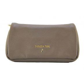 Borsa Pochette tracolla Patrizia Pepe grey gold marrone oro