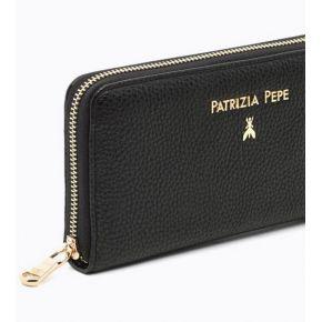 Portefeuille zip noir Patrizia Pepe