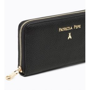Wallet zip around black Patrizia Pepe