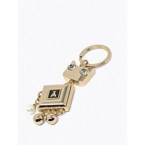 Keychain keyring Patrizia Pepe cat shiny gold