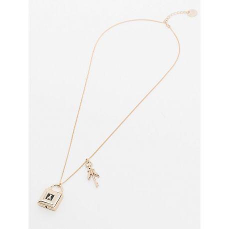Collana necklace Patrizia Pepe light gold black oro chiaro e nero