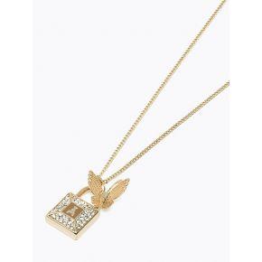 Collier collier Patrizia Pepe en or brillant papillon, d'or, de diamants