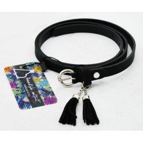Black belt with nappini black