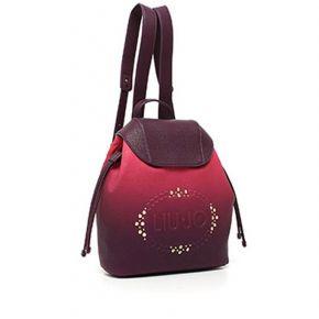 Bolsa mochila de Liu Jo logotipo de la luciérnaga se desvaneció el rosa fucsia Liu Jo