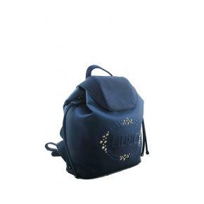 Bolsa mochila de Liu Jo logotipo de la luciérnaga se desvaneció azul claro azul oscuro