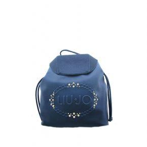 59298c2dbbc2b Borsa zaino Liu Jo logo lucciola sfumata blu chiaro blu scuro ...