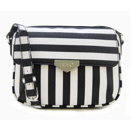 tracolla-s-stripes-black-stripe-liu-jo-borsa -liu-jo-in-ecopelle-motivo-saffiano-con-disegno-a-righe-dotata-di-tracolla -regolabil.jpg 359f523de5