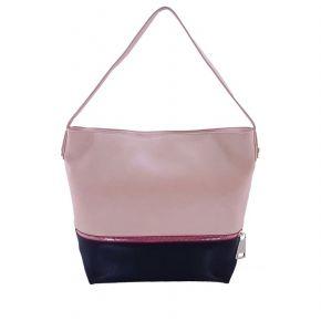 Bolsa de vagabundo con tracola Patrizia Pepe rosa, negro