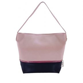 Hobo bag with tracola Patrizia Pepe pink black