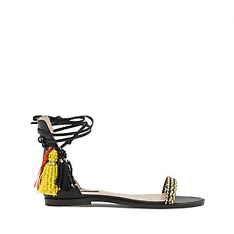 Sandalo Patrizia Pepe Hippy Suede oro nero