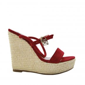 Sandal Patrizia Pepe wedge in red suede