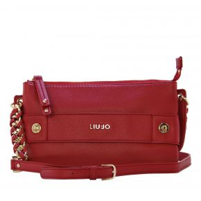 Bag clutch bag with shoulder strap Liu Jo lavender cherry