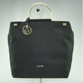 Borsa shopping con tracolla Liu Jo l maincy nera