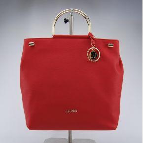Borsa shopping con tracolla Liu Jo l maincy rossa