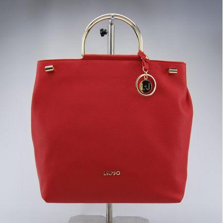 Shopping bag mit schultergurt Liu Jo l maincy rot