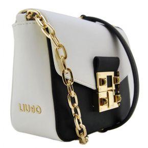 Shoulder bag sifnos black white Liu Jo