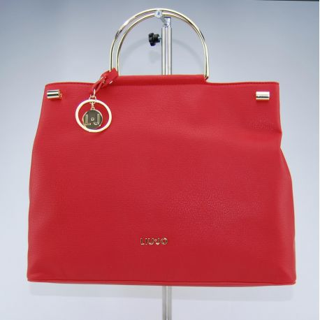 Borsa shopping Liu Jo con tramezza maincy rossa