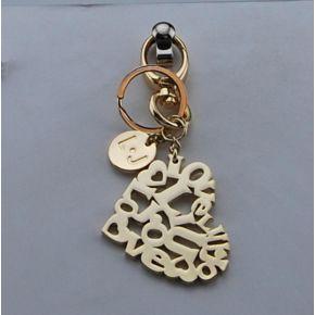 Portachiave Liu Jo key ring heart light gold