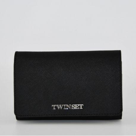 Portafoglio con patta Twin Set nero Simona Barbieri