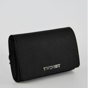 Brieftasche mit patte Twin-Set schwarz Simona Barbieri