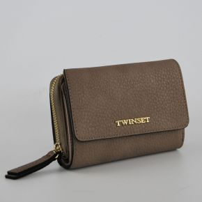 Wallet with flap-Twin Set raffia Simona Barbieri