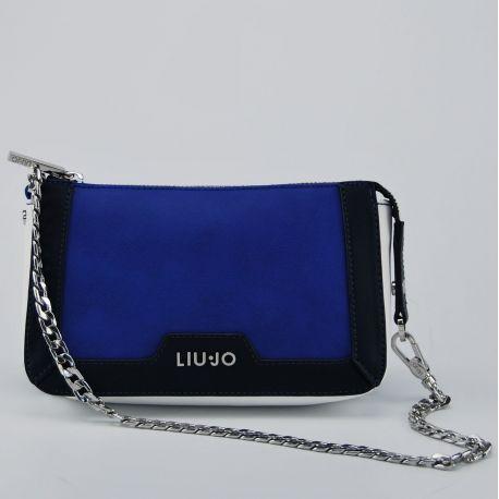 Borsa tracollina con catena Liu Jo new cannes nmonaco blu bianca blu