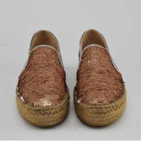 Espadrilles Patrizia Pepe all over Sequins pink silver