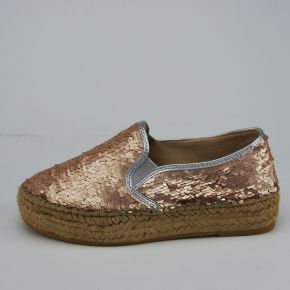 Espadrillas Patrizia Pepe all over Paillettes rosa argento