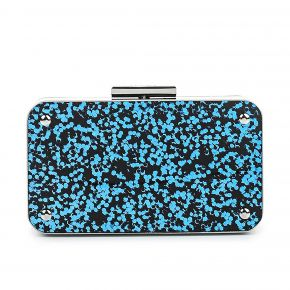 Clutch Liu Jo glitter primula blue and silver