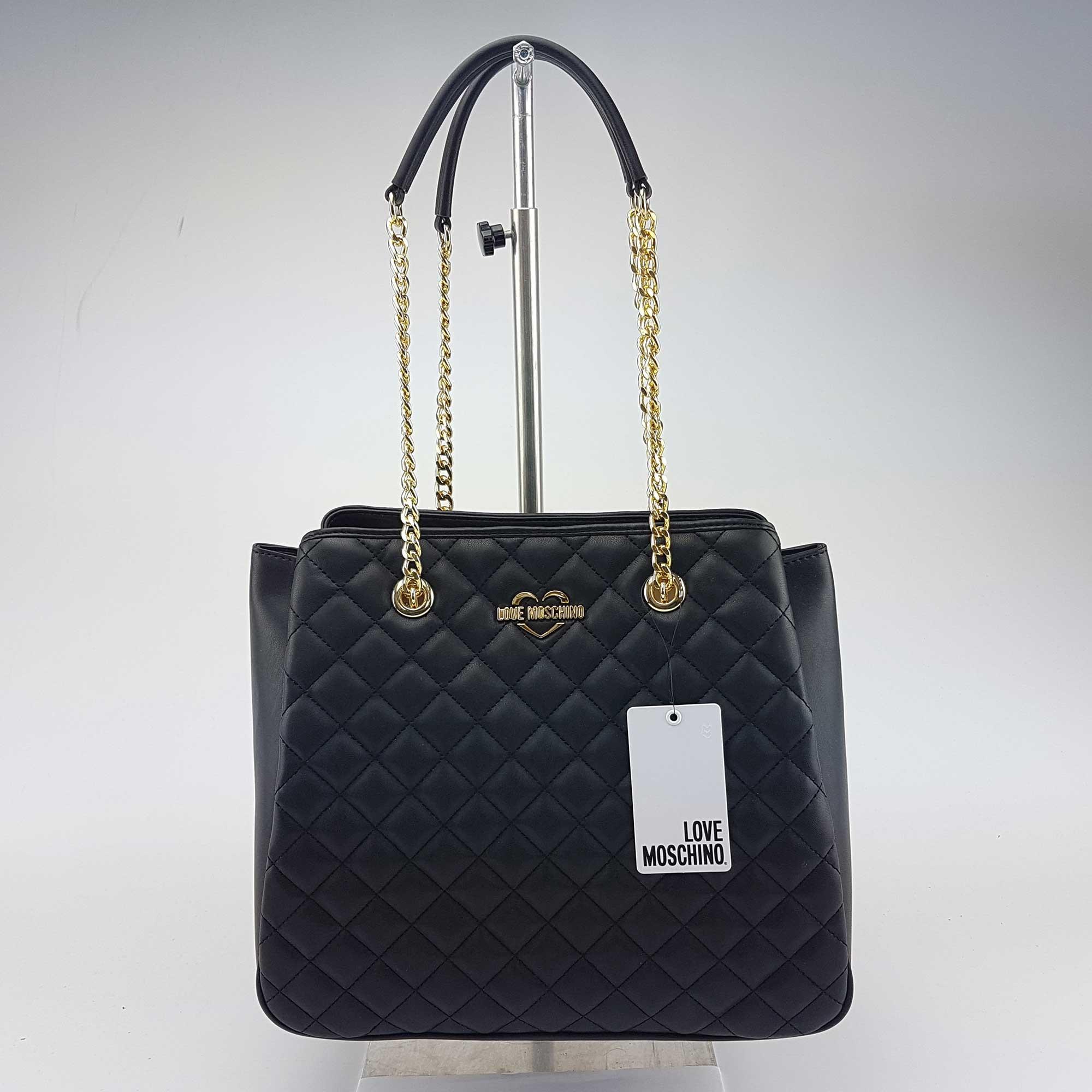 Borsa shopping Love Moschino trapuntata nera 60b30cc809a