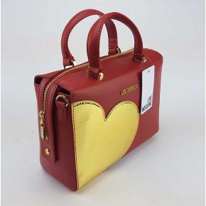 Borsa tracolla Love Moschino rossa con cuore oro
