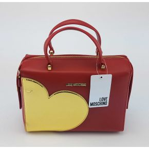 Shoulder bag Love Moschino red heart gold