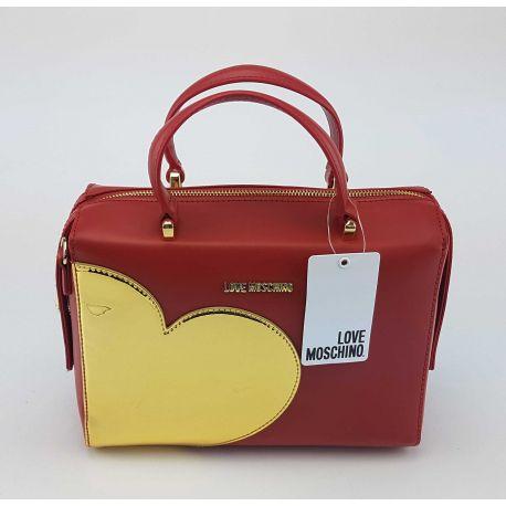 Umhängetasche-Love Moschino rot mit herzen gold