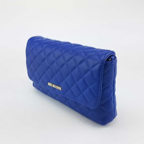 Shoulder bag Love Moschino quilted blue