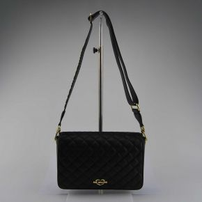 Shoulder bag Love Moschino quilted navy blue