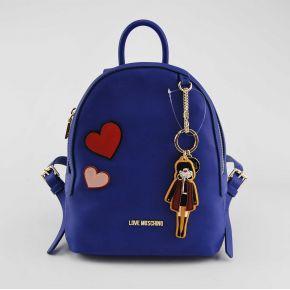 Rucksack Love Moschino-blau
