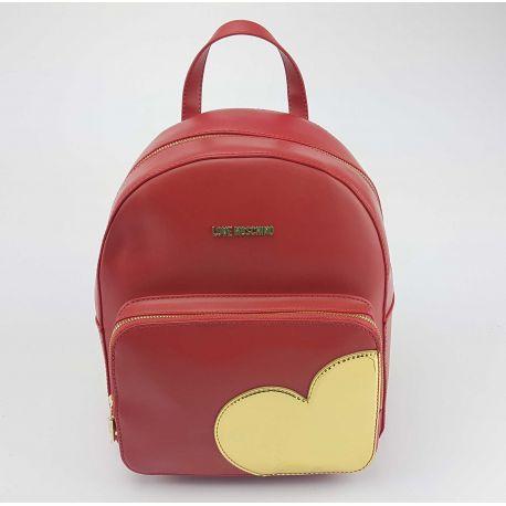 Zaino Love Moschino rosso cuore oro