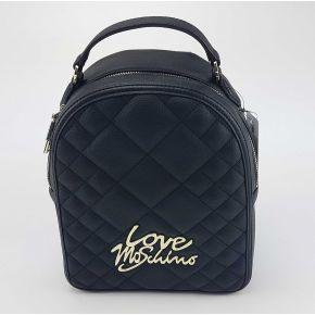 Rucksack Love Moschino gesteppte schwarz