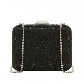 Clutch bag, hand Clutch, Liu Jo primrose rhinestone detailing two-tone black and silver