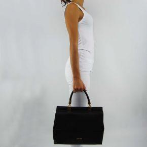 Bolsa de carpeta de nimes Liu Jo negro