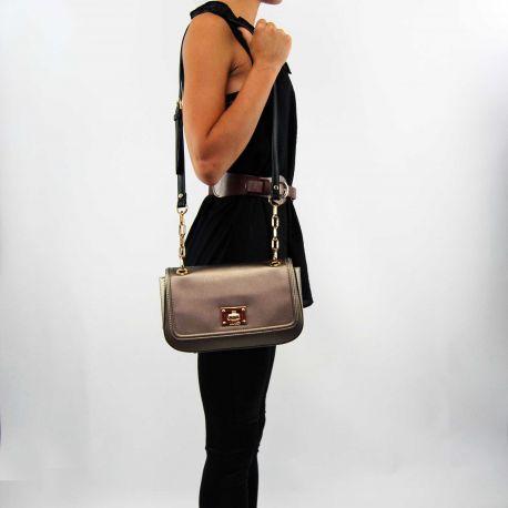 Tasche baguette Liu Jo c/klappe lille bronze