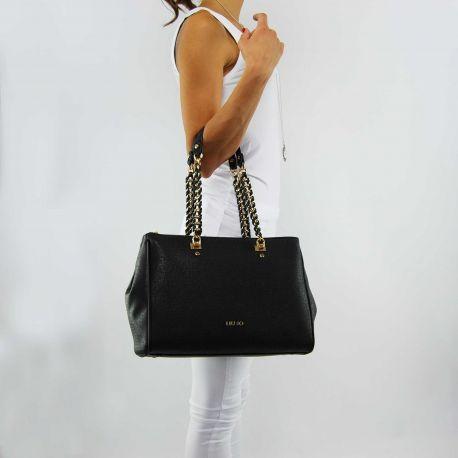 Borsa shopping Liu Jo l e/w anna chain nera